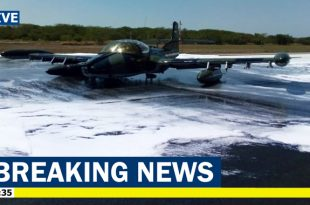 El Salvador Air Force Cessna A-37 Dragonfly makes emergency landing at the Monseñor Romero airport