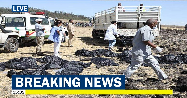 Ethiopian Airlines flight with 157 people on board Crashed, No survivors