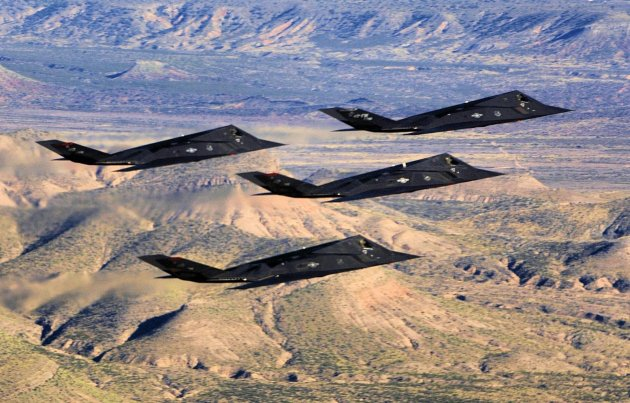 US deployed 4 retired F-117 Nighthawks to conducted Airstrikes In Syria in 2017