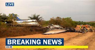 Fourteen dead in a Douglas DC-3 plane crash in Colombia