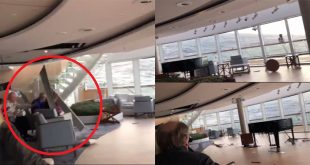 Horrific video of Furniture & passengers sent flying onboard Stricken Cruise ship - at least 8 injured & 115 evacuated so far