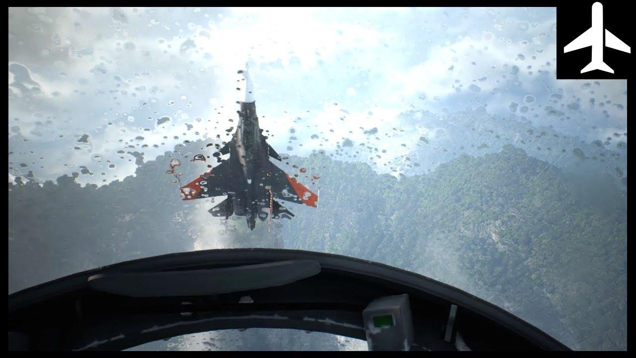 Immersive Ace Combat 7 First Person Dogfight Video: Spare-15 (F-18) VS Sol-1 (SU-30)