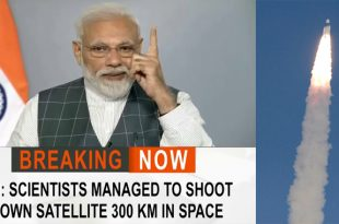 "India shoots down a satellite in space using a Ballistic ""Space Weapon"""
