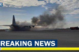 Philippine Air Force C-130 Hercules carrying 122 caught fire during takeoff