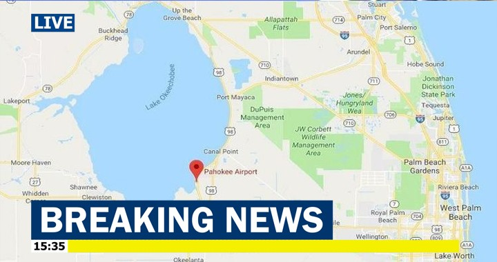 Piper PA-23-250 Aztec plane crashes into Lake Okeechobee, 5 Dead