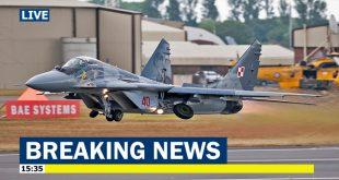 Polish MiG-29 Fighter jet crashes shortly after takeoff, Pilot injured