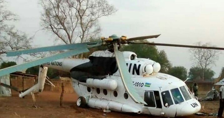 Rwandan Air Force Mil Mi-17V-5 helicopter operated by United Nations crashes Near Pagak town
