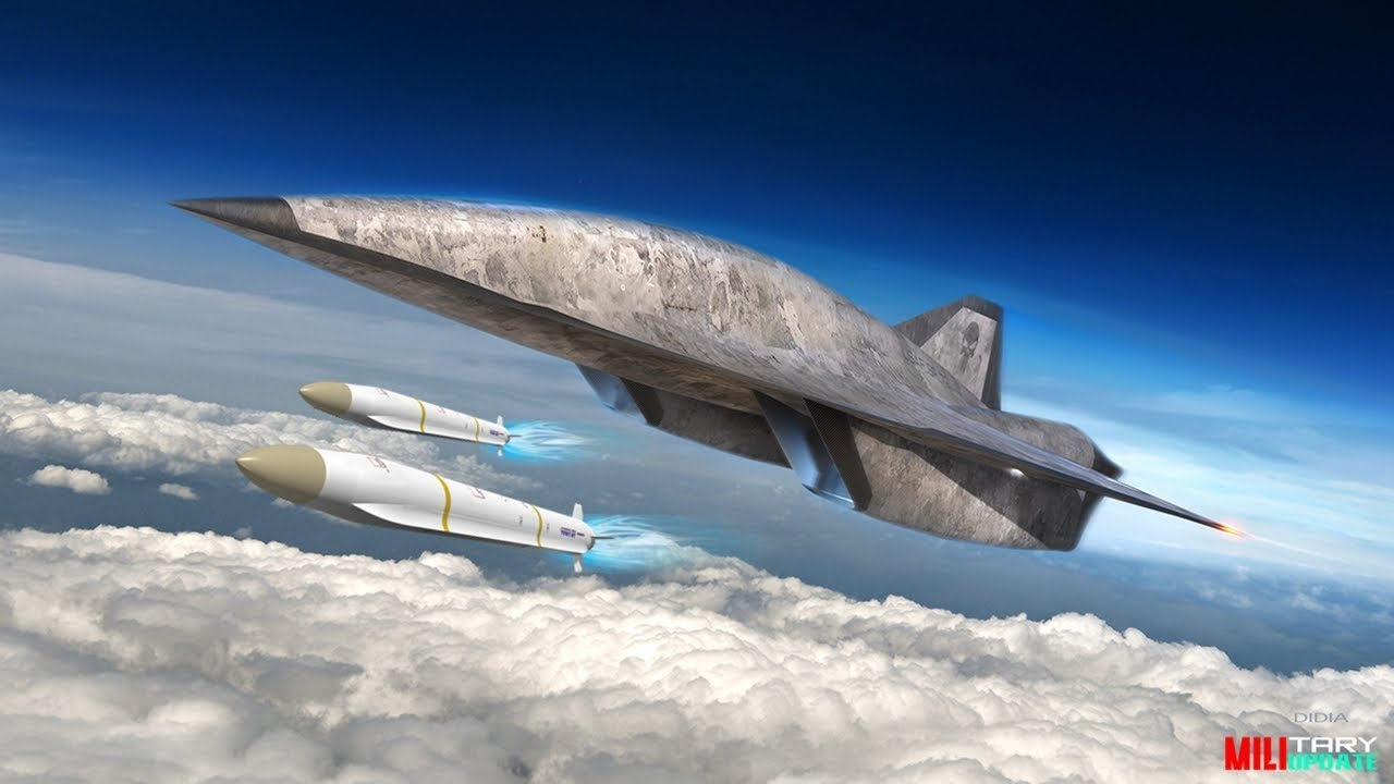 SR-72 hyper-sonic Scram jet spy plane can cross the Atlantic at Mach 6 & can carry weapons