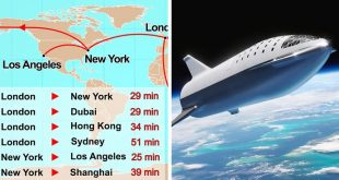 SpaceX plans rocket flights from London to New York in 29 minutes