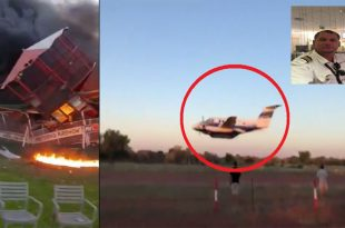 Suicidal pilot crashes plane into the clubhouse in an attempt to kill wife & friends