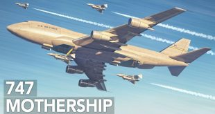 The Air Force's Crazy idea ofBoeing 747 Airborne Aircraft Carrier Concept