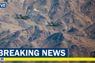 Two Marine F/A-18 Hornet collide midair over Twentynine Palms, California