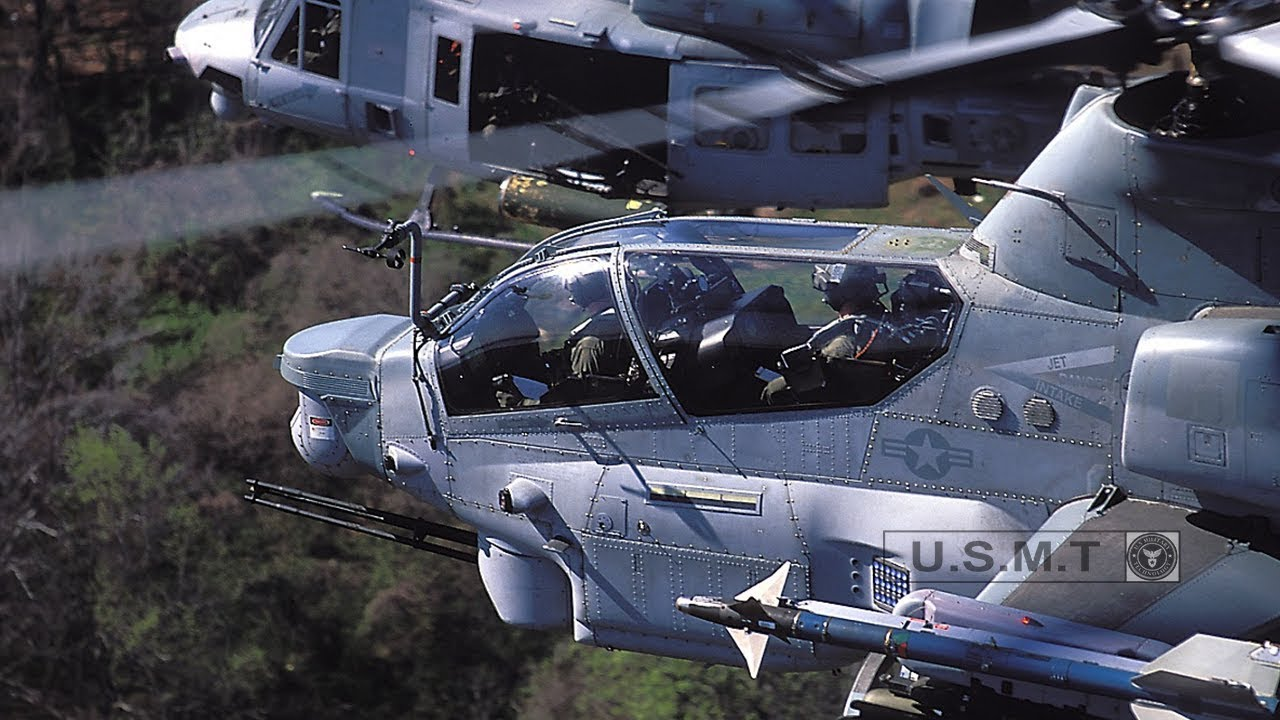 Watch Video of The Most Powerful Helicopter AH-1Z Viper in Action