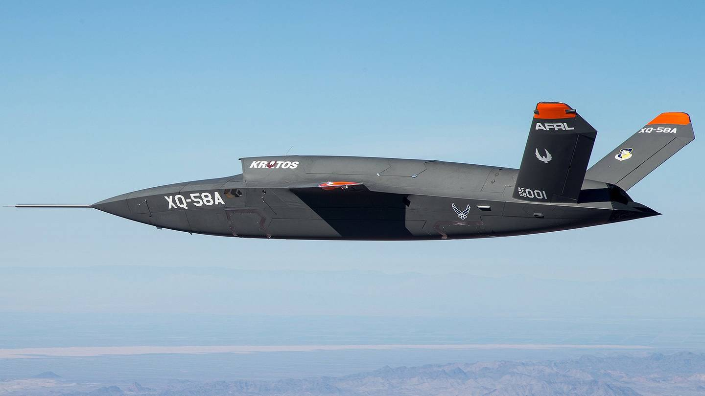U.S. Air Force new Secretive XQ-58A Valkyrie Experimental stealth Combat Drone has made its first flight