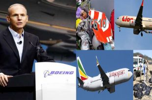 Boeing take Responsibility For Lion Air & Ethiopian Airlines 737 Max 8 plane crashes that killed 360 people