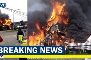 Britten-Norman BN-2 Islander plane crashed into residential area, 6 Dead