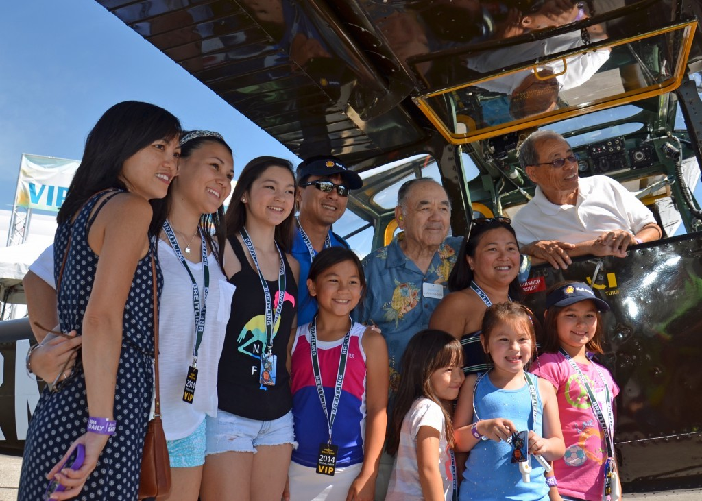 Buang-Ly and Family with Admiral Chambers at the Sun 'n Fun Expo.