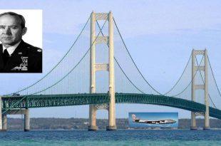 Crazy USAF pilot flew his B-47 Nuclear Bomber under a Michigan bridge 60 year ago
