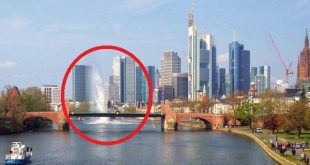 Detonation of World War II bomb found in Frankfurt river triggers 30m high water fountain