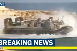 Footage of U.S. Navy Hovercraft Evacuating Americans From Libya emerges on social media