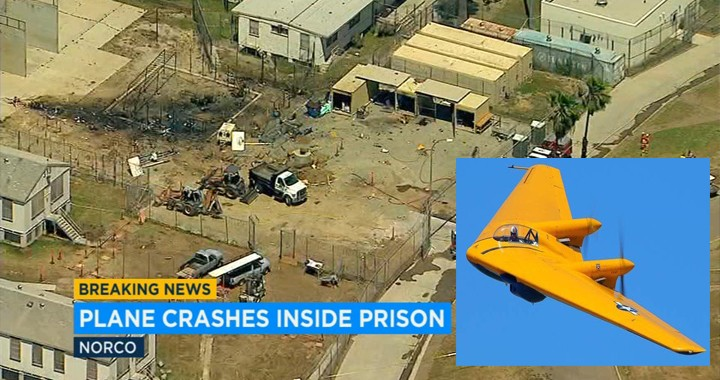 Historic WWII-Era Northrop N-9M Flying Wing Fatally Crashes Into state prison in Norco