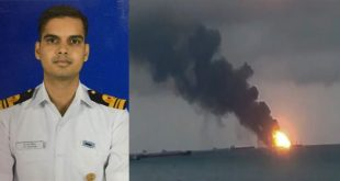 Indian Navy Aircraft Carrier INS Vikramaditya catches fire,1 officer Dead