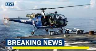 Indian Navy Chetak helicopter Ditches In Arabian sea