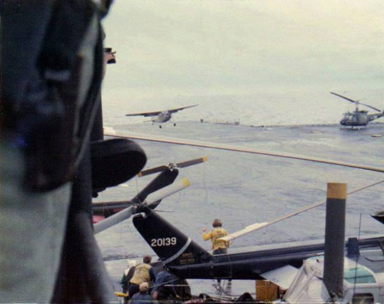 Vietnam Air Force pilot historic O-1 Bird Dog landing aboard USS Midway to save his family