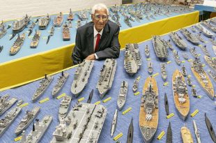 Man Spent 70 YEARS To Build Entire Royal Navy 484 warships Fleet From Over MILLION Matchsticks