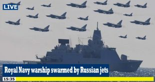 Royal Navy warship swarmed by 17 Russian fighter jets in Black Sea raid
