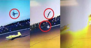 Shocking footage of plane crash during takeoff at Fullerton Municipal Airport