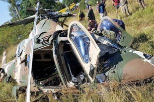 South African Air Force Agusta A109 crashes in Centurion
