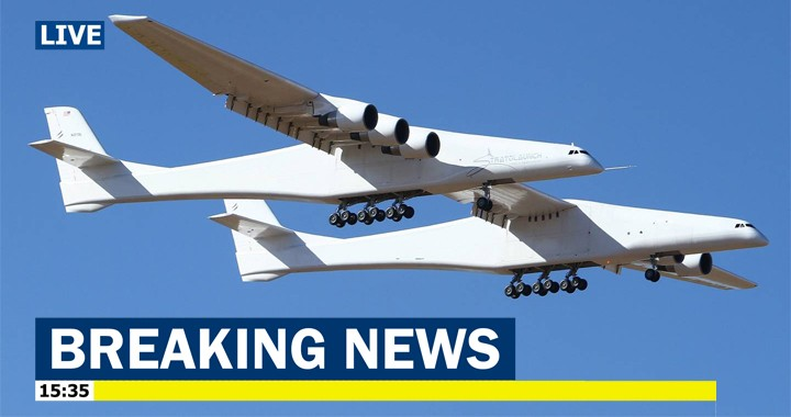 Stratolaunch: The World's largest Aircraft just flew for the first time