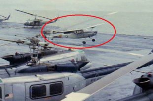 VNAF pilot historic O-1 Bird Dog landing aboard USS Midway to save his family