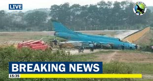 Vietnam Air Force Sukhoi Su-22M4 crashed into a wall while landing at Yen Bai Air Base -