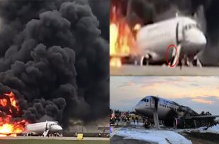At least 41 dead As Plane engulfed in flames made an emergency landing at Moscow airport