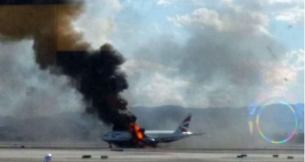 Crash Animation & Cockpit voice recording of British Airways Flight 2276 Bursting into Flames During aborted take-off in Las Vegas