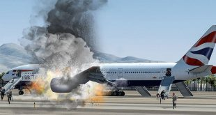 Crash Animation & Cockpit voice recording of British Airways Flight 2276 Bursting into Flames During aborted take-off in Las Vegas