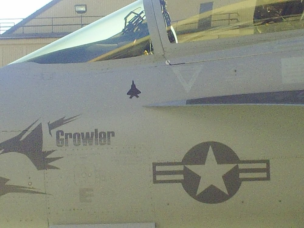 EA-18G that scored a simulated aerial victory against Stealth F-22 Raptor fighter jet