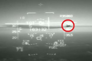 Footage of Near Miss between Italian F-16 Fighter jet and commercial jet