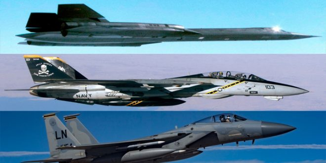 How F-14 & F-15 fighter jets were able to achieve a simulated KILLS against the SR-71 Blackbird