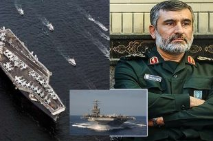Iran threatens to target United States Navy Aircraft carrier deployed in the Persian Gulf