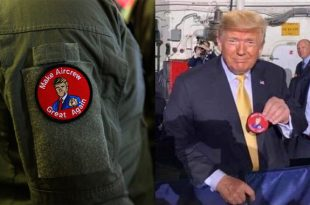 U.S. Navy Is Investigating Sailors for wearing unofficial 'Make Aircrew Great Again' Patches during Trump visit