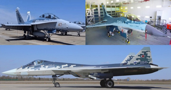 """Navy F/A-18D and Air Force F-16C painted in Russian Su-57-Like """"Ghost"""" color Scheme"""
