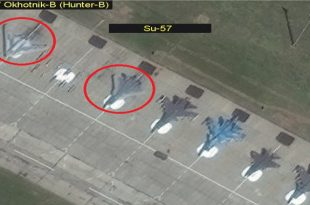 Satellite imagery Spotted Russia's S-70 Okhotnik-B UCAV and SU-57 at Military Test Facility