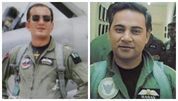 Squadron Leader Hassan Siddiqui and Wing Commander Nauman Ali Khan