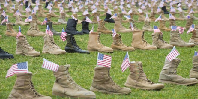 Thousands of Boots are on display at Fort Bragg to honors fallen U.S service members killed since 9/11