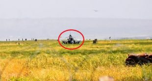 Turkish Air Force F-4E Fighter jet crash during landing at Malatya Erhaç Base