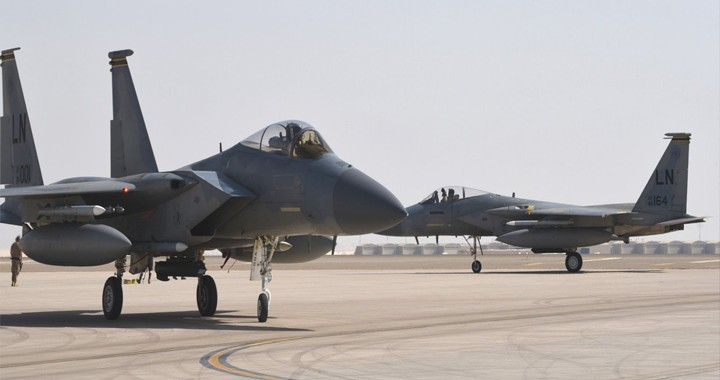 U.S Sends Fully Armed F-15 Fighter Jets In The Middle East Amid Iranian Threats