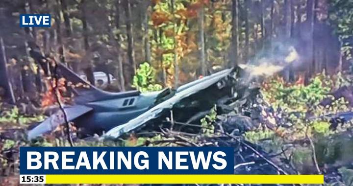 U.S. Marine Corps AV-8B Harrier II Aircraft Crashes Outside MCAS Cherry Point